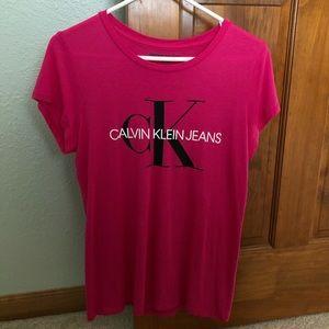 Calvin Klein Pink Logo T-shirt